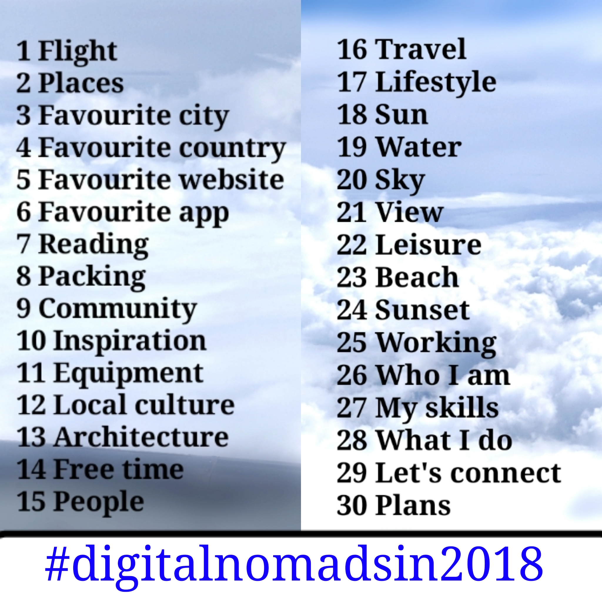 digital nomads in 2018 instagram challenge