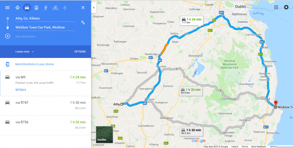 Irish Public Transport Travel Hacks kildare to wicklow