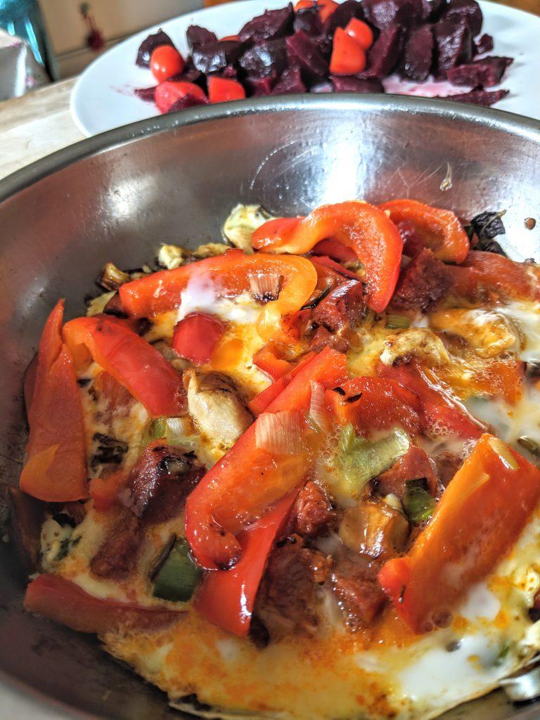 chorizo spanish tortilla omelette