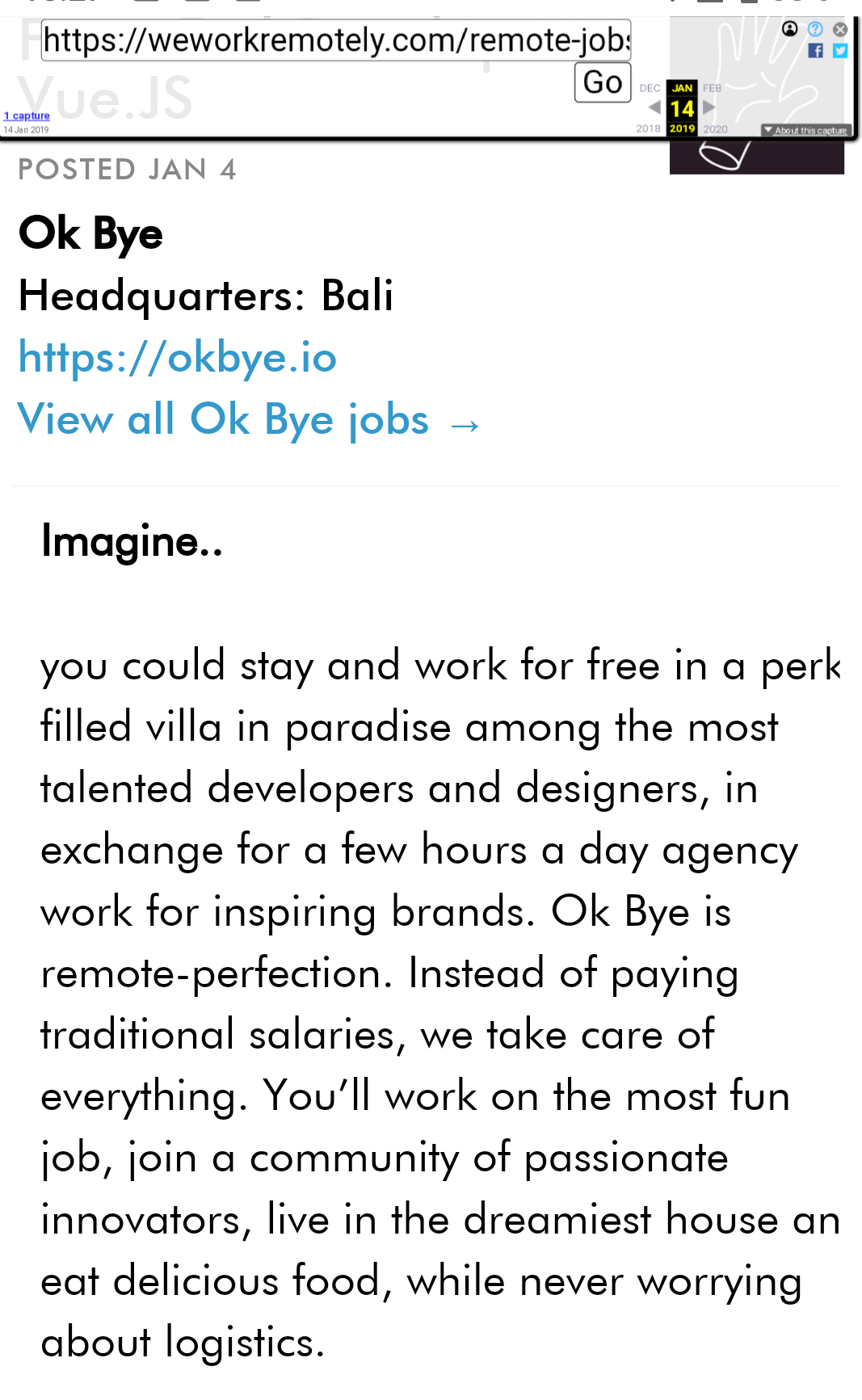 The Remote Job That Didn't Pay a Salary: OK Bye - Digital